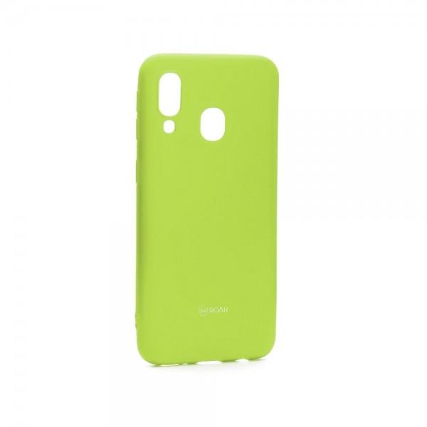 Husa Spate Roar Colorful Jelly Samsung Galaxy A40 ,verde Lime imagine itelmobile.ro 2021