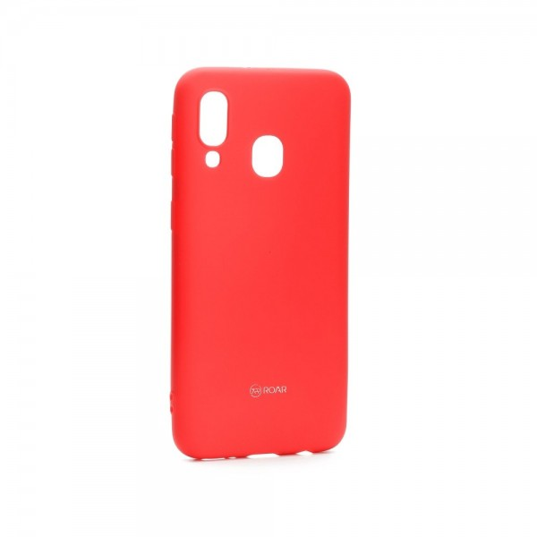 Husa Spate Roar Colorful Jelly Samsung Galaxy A40 ,hot Roz imagine itelmobile.ro 2021