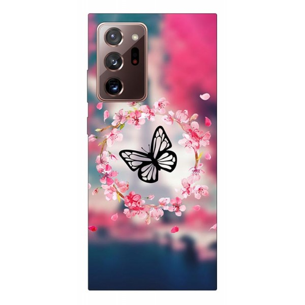 Husa Silicon Soft Upzz Print Samsung Galaxy Note 20 Ultra Model Butterfly imagine itelmobile.ro 2021