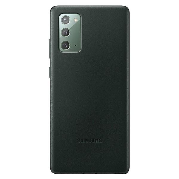 Husa Spate Originala Piele Pentru Samsung Galaxy Note 20 Verde -ef-vn980lg imagine itelmobile.ro 2021