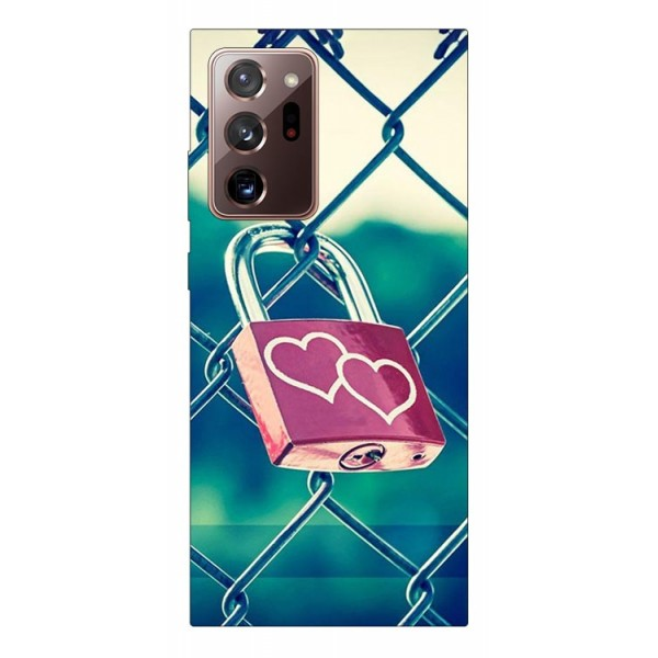 Husa Silicon Soft Upzz Print Samsung Galaxy Note 20 Ultra Model Heart Lock imagine itelmobile.ro 2021