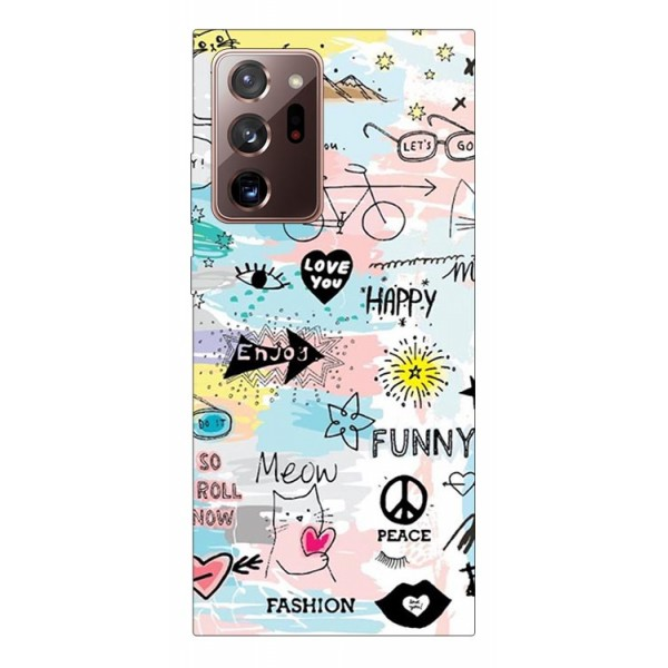 Husa Silicon Soft Upzz Print Samsung Galaxy Note 20 Ultra Model Meow imagine itelmobile.ro 2021