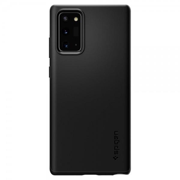 Husa Premium Originala Spigen Thin Fit Samsung Galaxy Note 20, Negru imagine itelmobile.ro 2021