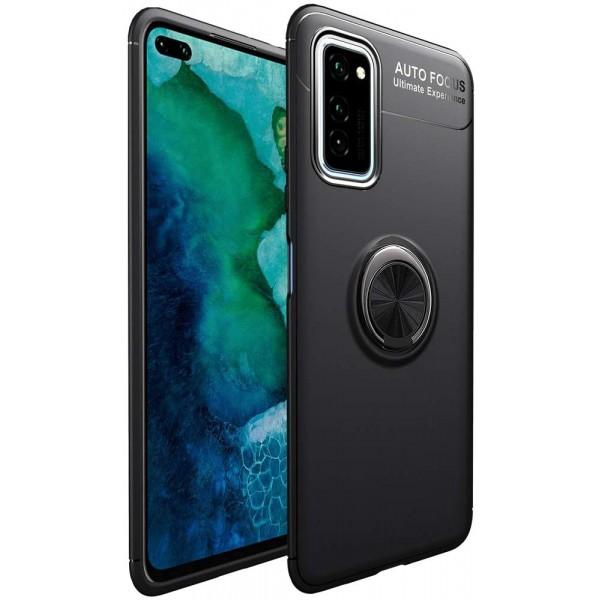 Husa Spate Silicon Premium Iring Metalic Upzz Samsung Galaxy A51, Cu Ring Metalic Pe Spate Negru imagine itelmobile.ro 2021