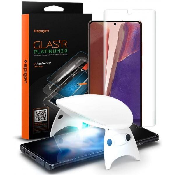 Folie Sticla Premium Spigen Glas.tr Platinum 2.0 Samsung Note 20 Agl01452 imagine itelmobile.ro 2021