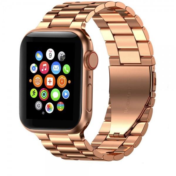 Curea Ceas Upzz Tech Stainless Compatibila Cu Apple Watch 1/2/3/4/5/6 (38/40mm) Rose Gold imagine itelmobile.ro 2021
