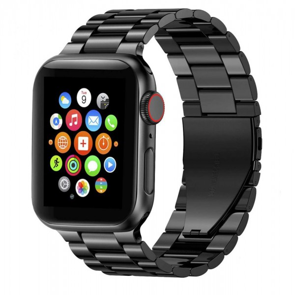 Curea Ceas Upzz Tech Stainless Compatibila Cu Apple Watch 1/2/3/4/5/6 (42/44mm) Black imagine itelmobile.ro 2021