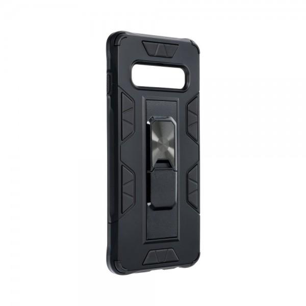 Husa Premium Upzz Defender Antishock Compatibila Cu Samsung Galaxy S10 ,negru -stand Magnetic Pe Spate imagine itelmobile.ro 2021