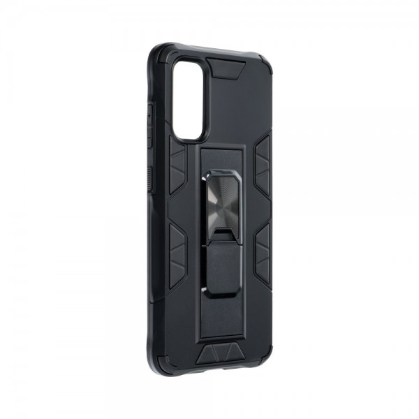 Husa Premium Upzz Defender Antishock Compatibila Cu Samsung Galaxy S20 ,negru -stand Magnetic Pe Spate imagine itelmobile.ro 2021