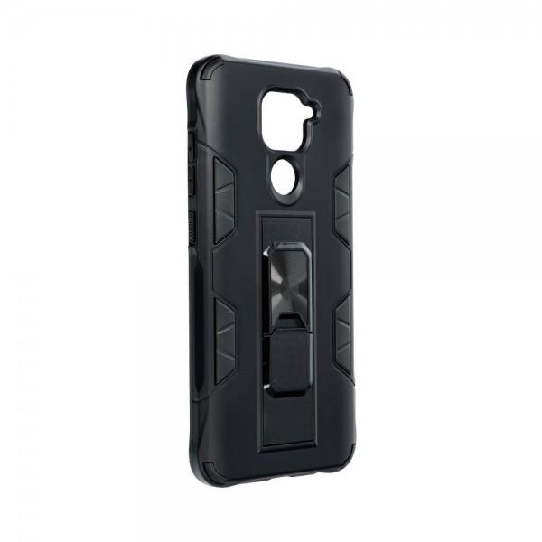 Husa Premium Upzz Defender Antishock Compatibila Cu Xiaomi Redmi Note 9 ,negru -stand Magnetic Pe Spate imagine itelmobile.ro 2021