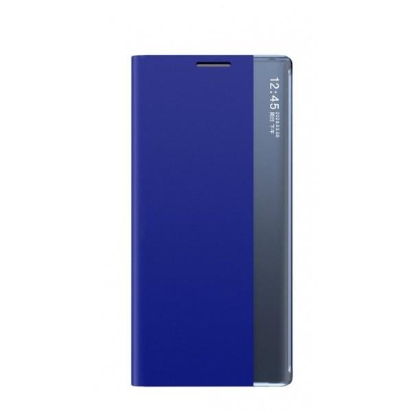 Husa Flip Cover Smart Sleep Upzz Compatibila Cu Samsung Galaxy Note 20, Albastru imagine itelmobile.ro 2021