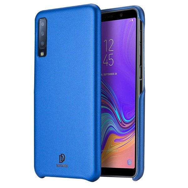Husa Spate Originala Duxducis Skin Lite Samsung Galaxy A7 2018 Piele Albastru imagine itelmobile.ro 2021