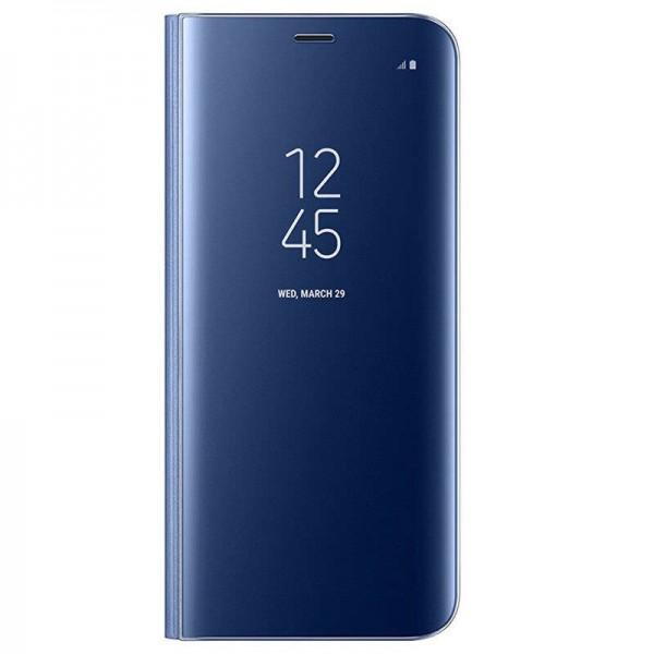 Husa Flip Cover Upzz Mirror iPhone Se 2 ( 2020 ) ,albastru Cu Folie Sticla Upzz Inclusa imagine itelmobile.ro 2021