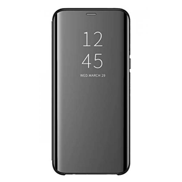 Husa Tip Carte S View Mirror Xiaomi Redmi 9 ,negru imagine itelmobile.ro 2021