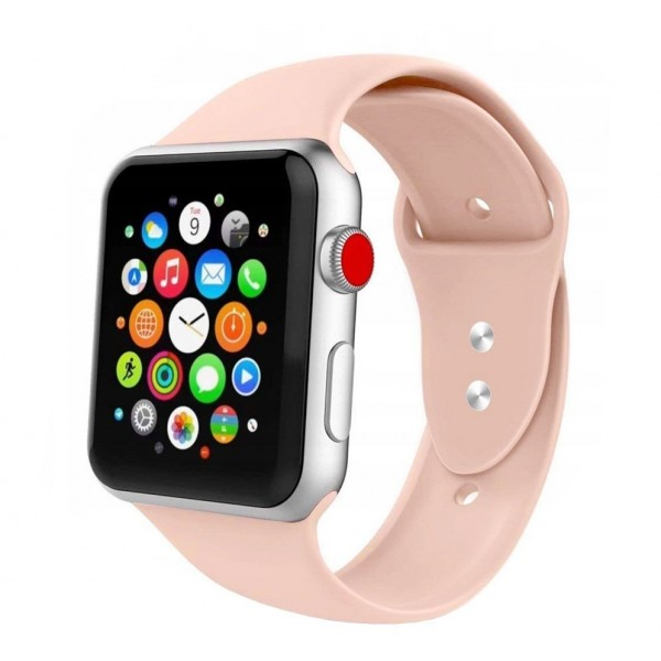 Curea Smooth Band Upzz Tech Protect ,compatibila Cu Apple Watch 1/2/3/4/5 (42/44mm), Roz imagine itelmobile.ro 2021