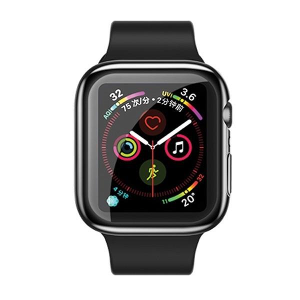 Carcasa Usams Silicon ,compatibila Cu Apple Watch 4/5 (40mm), Negru -iw485bh01 imagine itelmobile.ro 2021