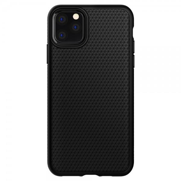 Husa Premium Originala Spigen Liquid Air iPhone 12 / iPhone 12 Pro Negru Silicon imagine itelmobile.ro 2021