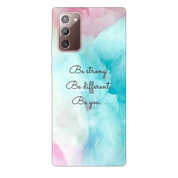 Husa Silicon Soft Upzz Print Samsung Galaxy Note 20 Model Be You imagine itelmobile.ro 2021