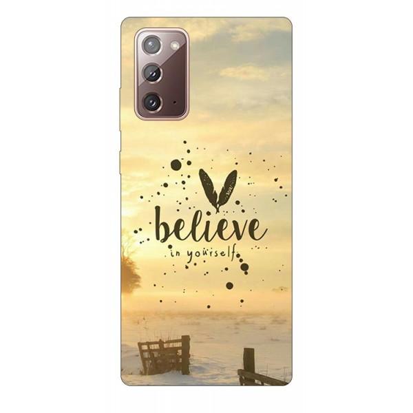 Husa Silicon Soft Upzz Print Samsung Galaxy Note 20 Model Belive imagine itelmobile.ro 2021