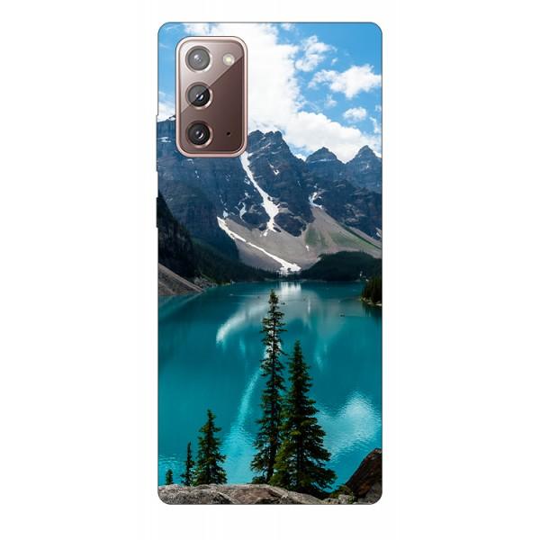 Husa Silicon Soft Upzz Print Samsung Galaxy Note 20 Model Blue imagine itelmobile.ro 2021