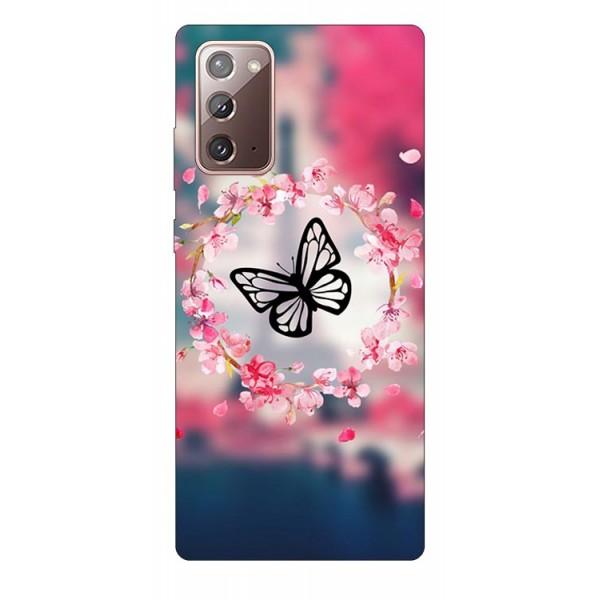 Husa Silicon Soft Upzz Print Samsung Galaxy Note 20 Model Butterfly imagine itelmobile.ro 2021