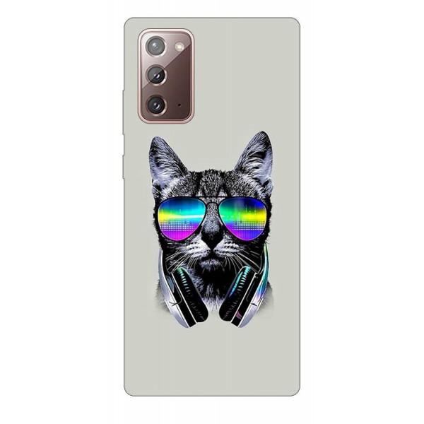Husa Silicon Soft Upzz Print Samsung Galaxy Note 20 Model Cat imagine itelmobile.ro 2021