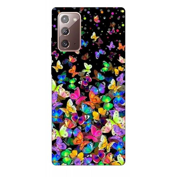 Husa Silicon Soft Upzz Print Samsung Galaxy Note 20 Model Colorature imagine itelmobile.ro 2021