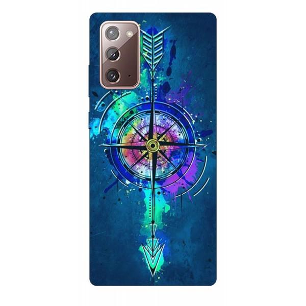 Husa Silicon Soft Upzz Print Samsung Galaxy Note 20 Model Compas imagine itelmobile.ro 2021