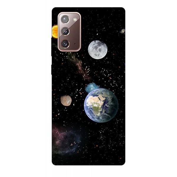 Husa Silicon Soft Upzz Print Samsung Galaxy Note 20 Model Earth imagine itelmobile.ro 2021
