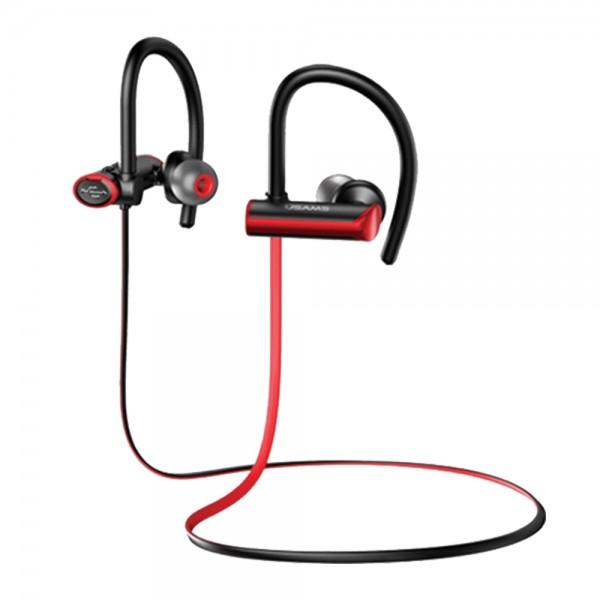 Casti Wireless Sport Usams S4 Bluetooth 5.0 Negru Rosu - Bgydej02 imagine itelmobile.ro 2021