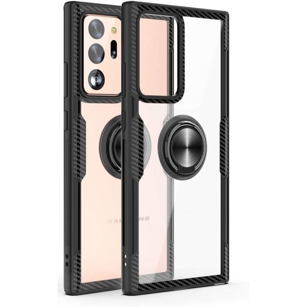 Husa Spate Premium Iring Metalic Upzz Clear Samsung Galaxy Note 20 Cu Ring Metalic Pe Spate Transparent imagine itelmobile.ro 2021