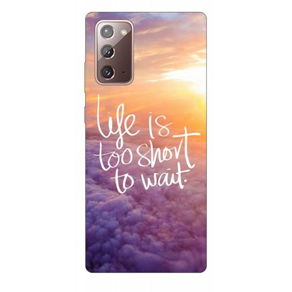 Husa Silicon Soft Upzz Print Samsung Galaxy Note 20 Model Life imagine itelmobile.ro 2021