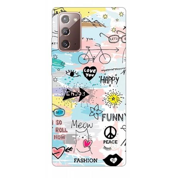 Husa Silicon Soft Upzz Print Samsung Galaxy Note 20 Model Meow imagine itelmobile.ro 2021