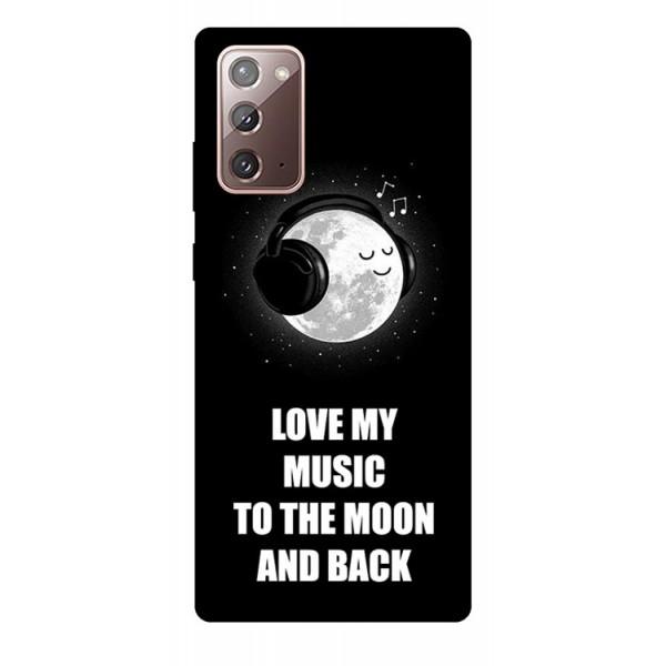 Husa Silicon Soft Upzz Print Samsung Galaxy Note 20 Model Music imagine itelmobile.ro 2021