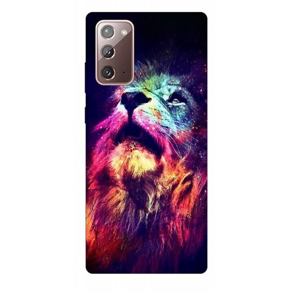 Husa Silicon Soft Upzz Print Samsung Galaxy Note 20 Model Neon Lion imagine itelmobile.ro 2021