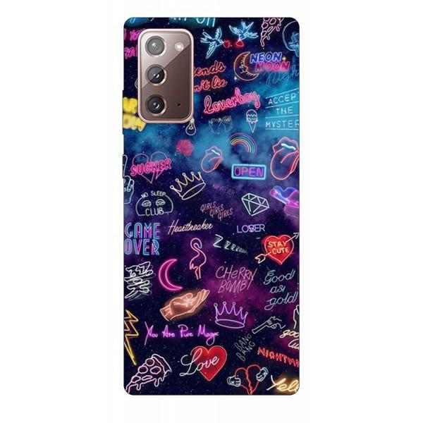 Husa Silicon Soft Upzz Print Samsung Galaxy Note 20 Model Neon imagine itelmobile.ro 2021