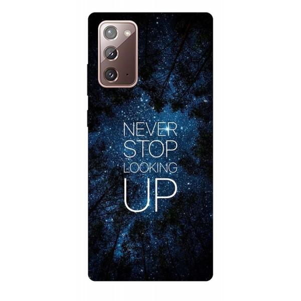 Husa Silicon Soft Upzz Print Samsung Galaxy Note 20 Model Never Stop imagine itelmobile.ro 2021