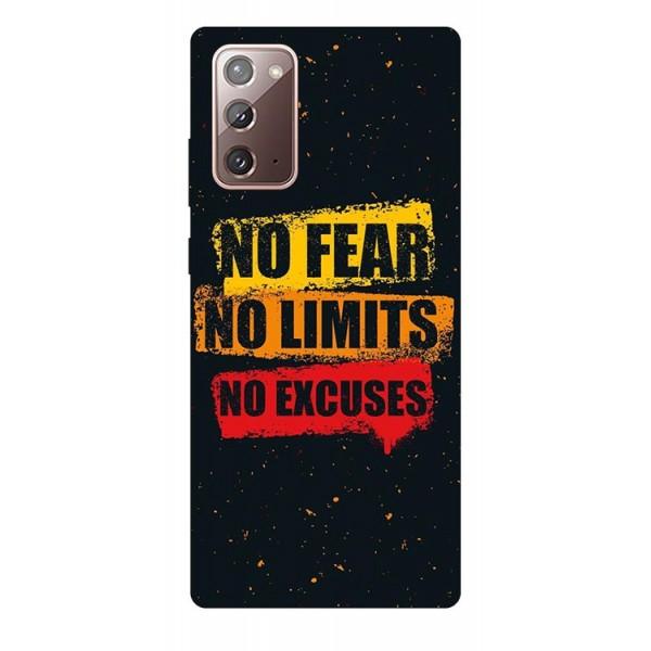 Husa Silicon Soft Upzz Print Samsung Galaxy Note 20 Model No Fear imagine itelmobile.ro 2021