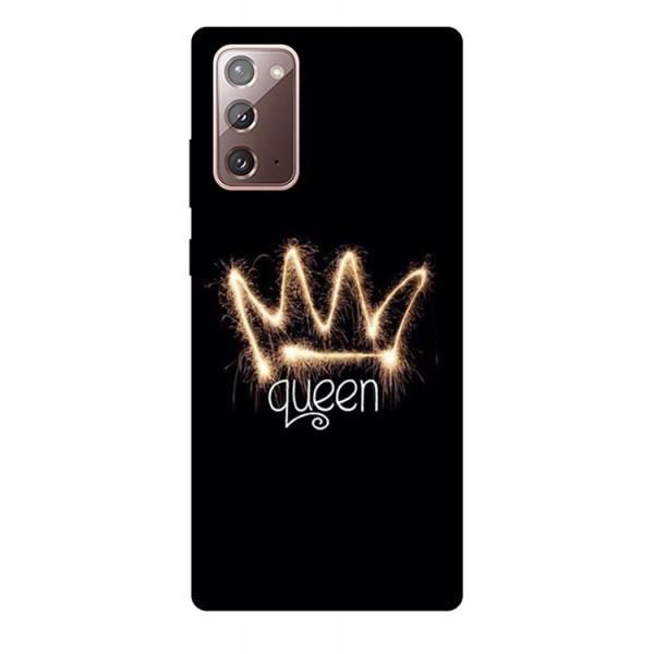 Husa Silicon Soft Upzz Print Samsung Galaxy Note 20 Model Queen imagine itelmobile.ro 2021