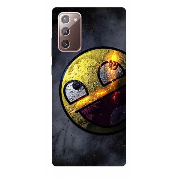 Husa Silicon Soft Upzz Print Samsung Galaxy Note 20 Model Smile 1 imagine itelmobile.ro 2021
