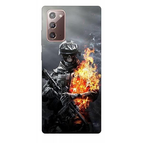 Husa Silicon Soft Upzz Print Samsung Galaxy Note 20 Model Soldier imagine itelmobile.ro 2021