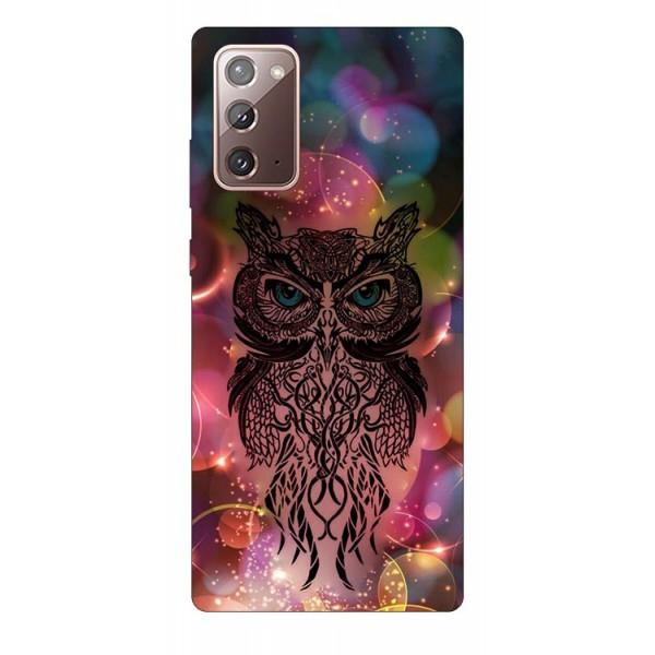 Husa Silicon Soft Upzz Print Samsung Galaxy Note 20 Model Sparkle Owl imagine itelmobile.ro 2021