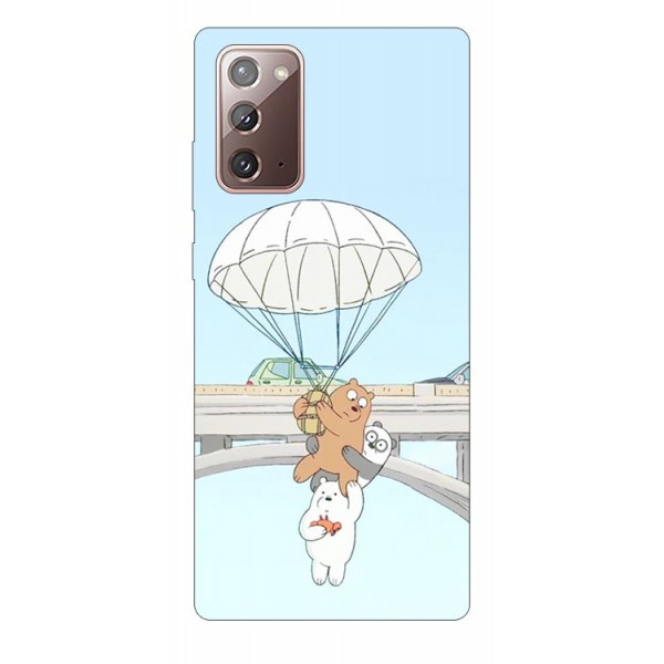 Husa Silicon Soft Upzz Print Samsung Galaxy Note 20 Model Three Bears imagine itelmobile.ro 2021