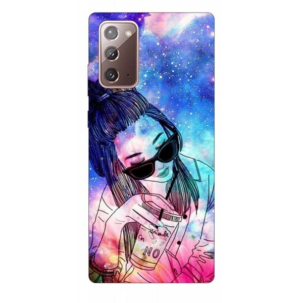Husa Silicon Soft Upzz Print Samsung Galaxy Note 20 Model Universe Girl imagine itelmobile.ro 2021