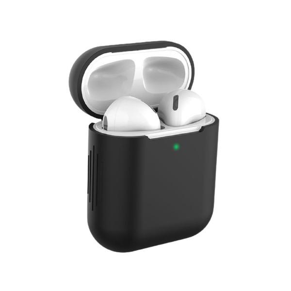 Husa Protectie Silicon Upzz Tech Icon Airpods 1/2 -negru imagine itelmobile.ro 2021
