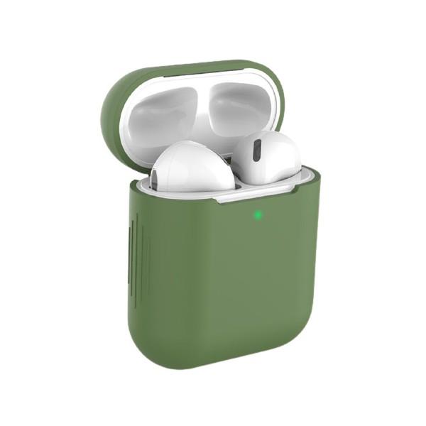 Husa Protectie Silicon Upzz Tech Icon Airpods 1/2 -verde imagine itelmobile.ro 2021