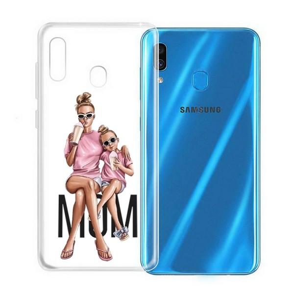 Husa Silicon Soft Upzz Print Samsung Galaxy A20e Model Mom1 imagine itelmobile.ro 2021