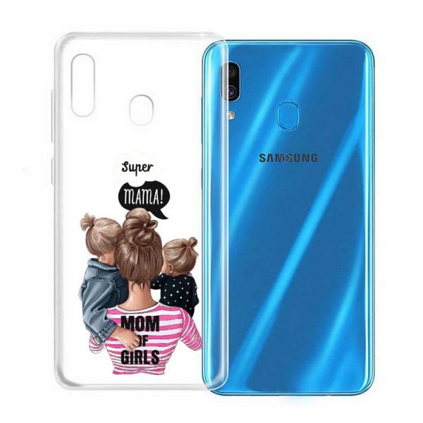 Husa Silicon Soft Upzz Print Samsung Galaxy A20e Model Mom3 imagine itelmobile.ro 2021
