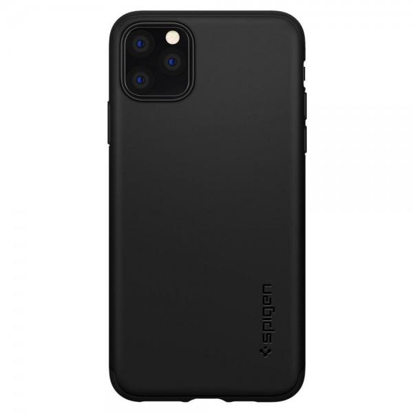 Husa Premium Originala Spigen Thin Fit Classic iPhone 11 Pro Max Negru imagine itelmobile.ro 2021