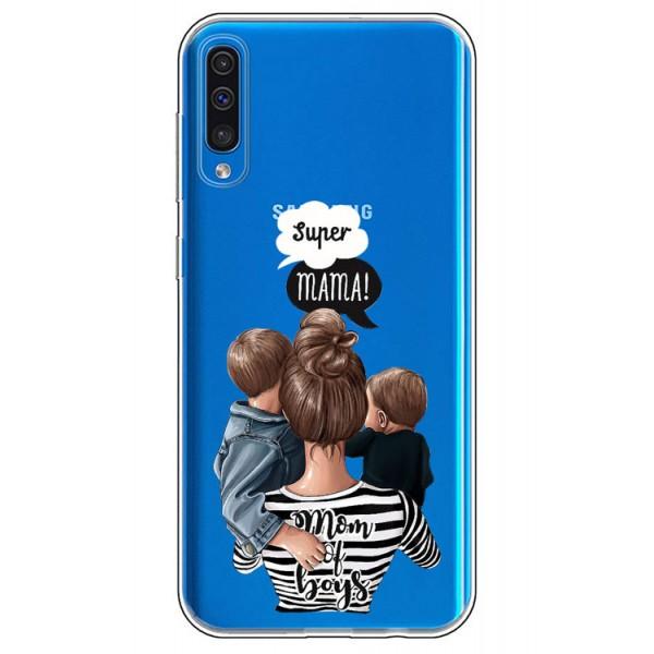 Husa Silicon Soft Upzz Print Samsung Galaxy A50 Model Mom2 imagine itelmobile.ro 2021
